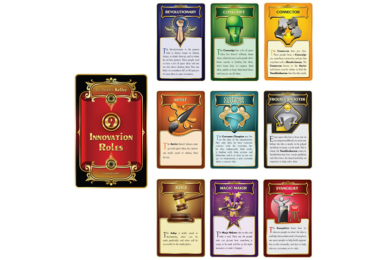 Nine Innovation Roles Card Deck