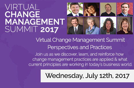 Join Me at the Virtual Change Management Summit 2017