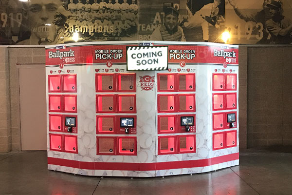 Food Lockers with Mobile Ordering at Ballparks