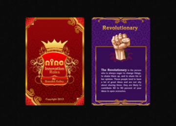 Design 1 - Nine Innovation Roles Card Deck