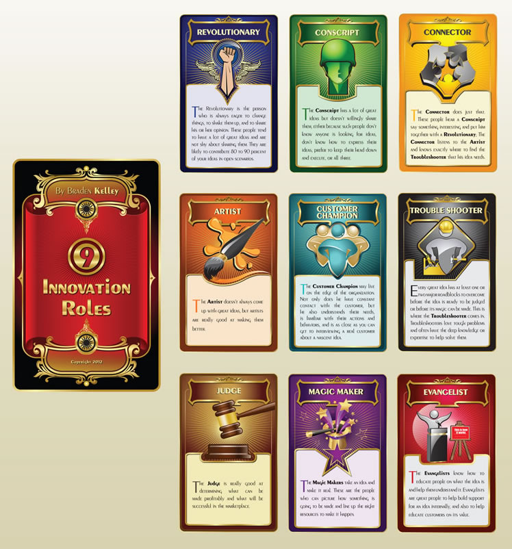 Winning Design - Nine Innovation Roles Interactive Card Deck