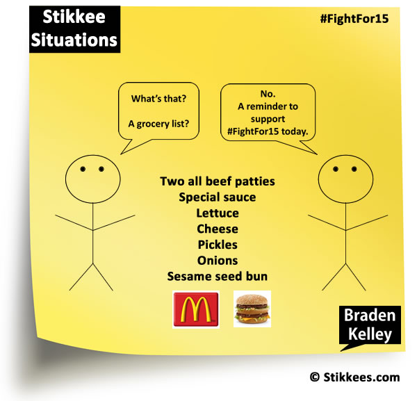 Stikkee Situations FightFor15