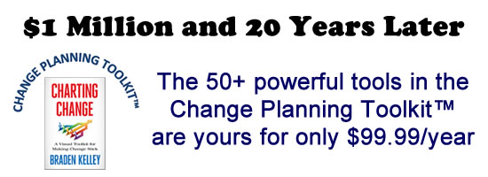 Change Planning Toolkit Million Dollar Value