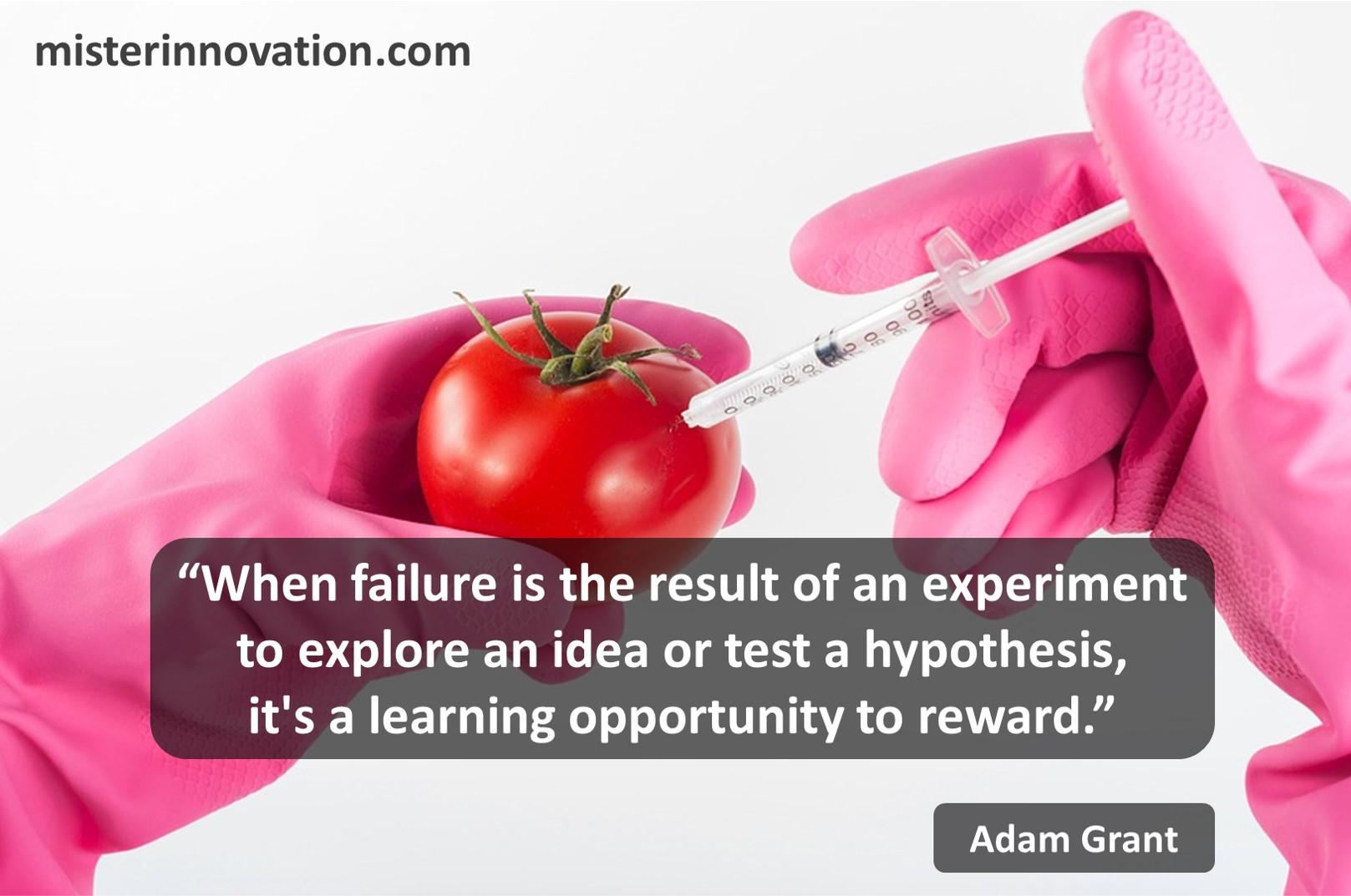 Adam Grant Failure Experiment