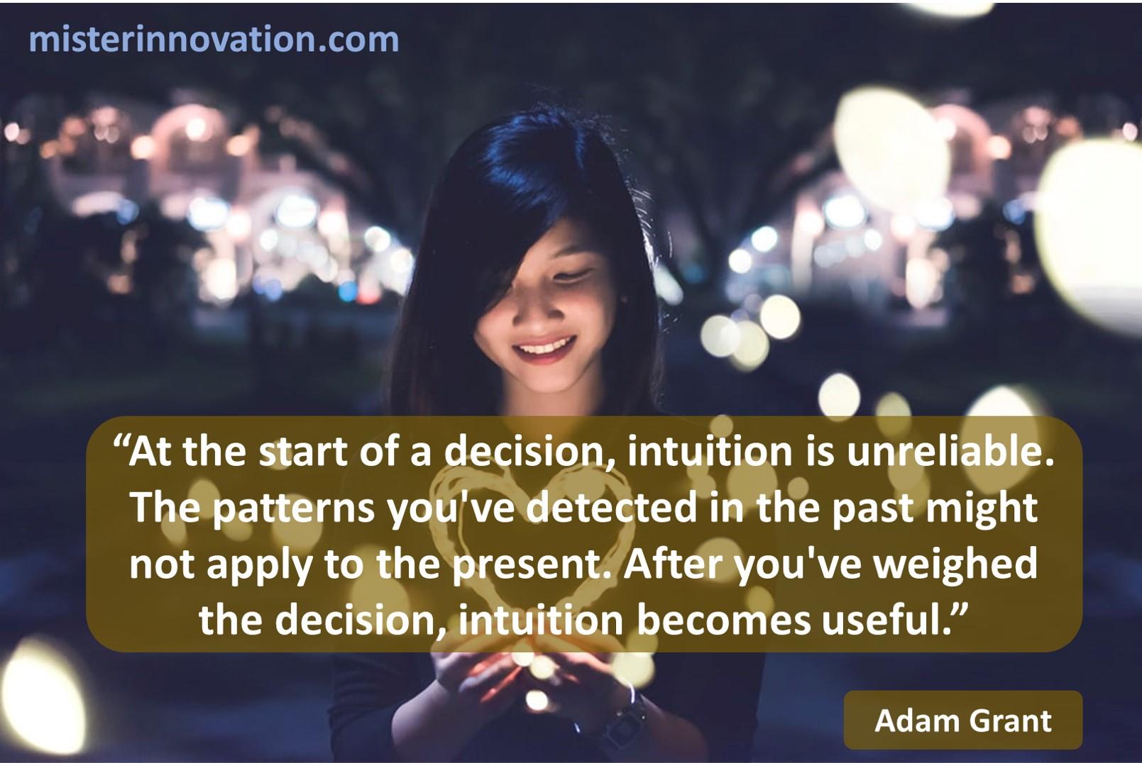 Adam Grant Intuition