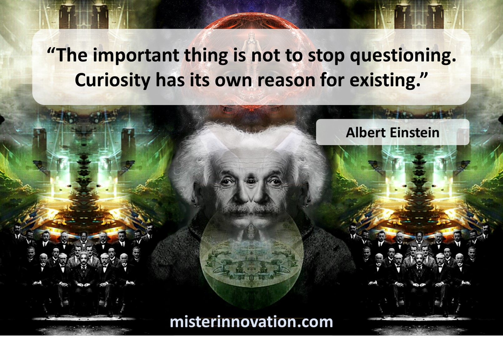 Albert Einstein Quote on Curiosity and Questioning