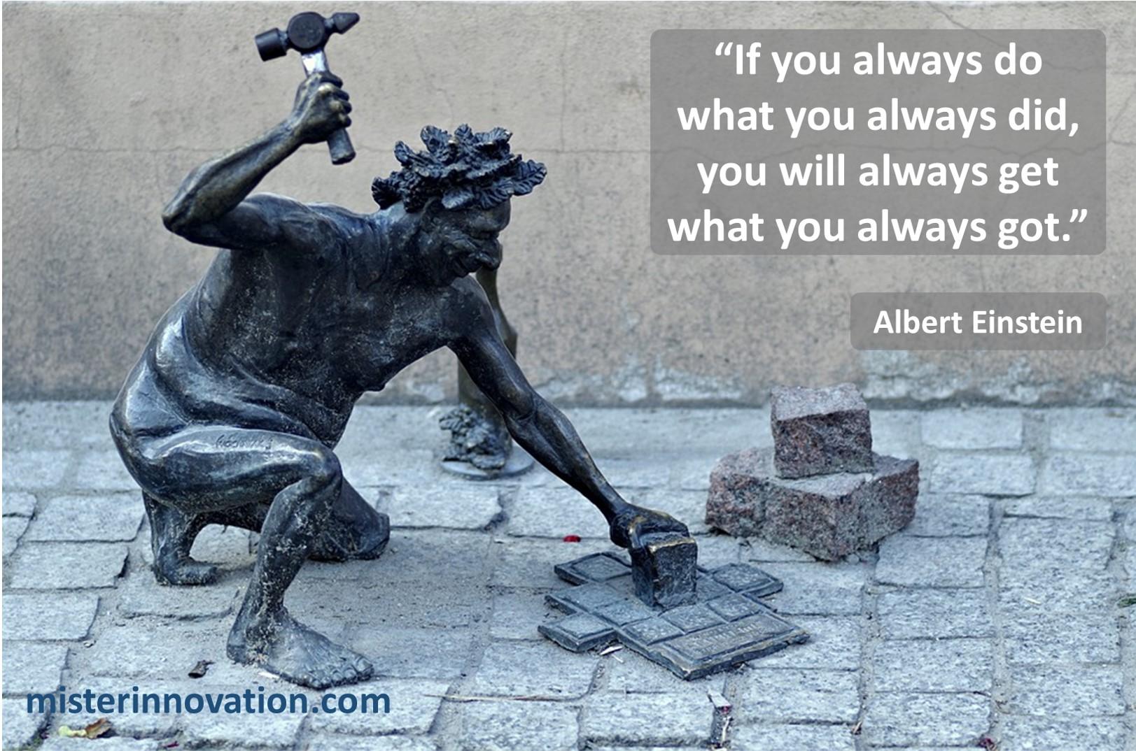 Albert Einstein Do What You Always