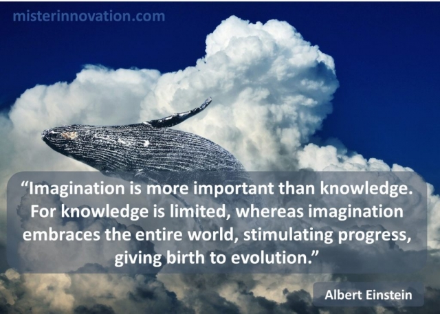 Albert Einstein Quote on Imagination, Knowledge and Evolution