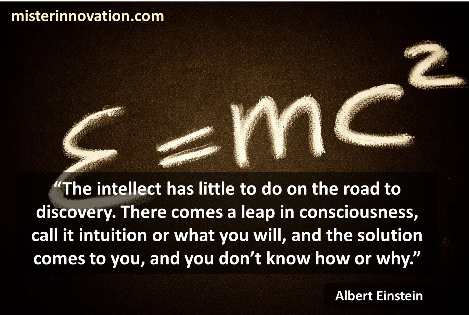 Albert Einstein Quote on Intellect and Intuition