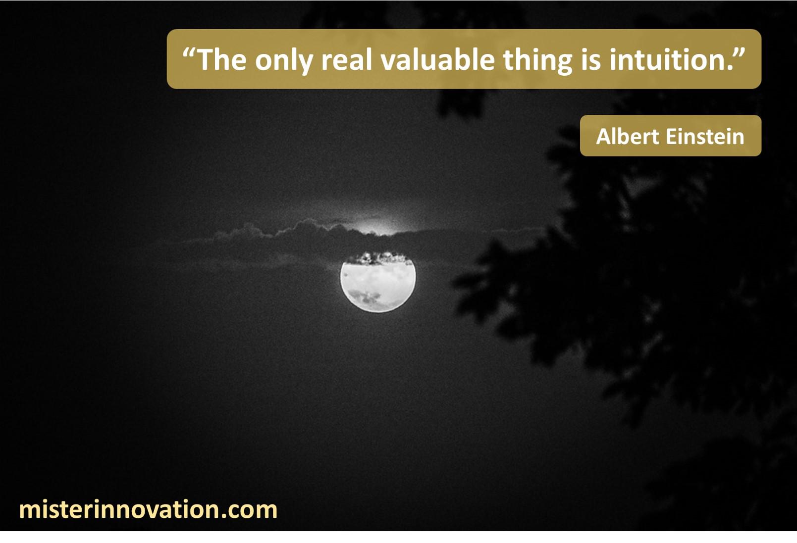 Albert Einstein Intuition