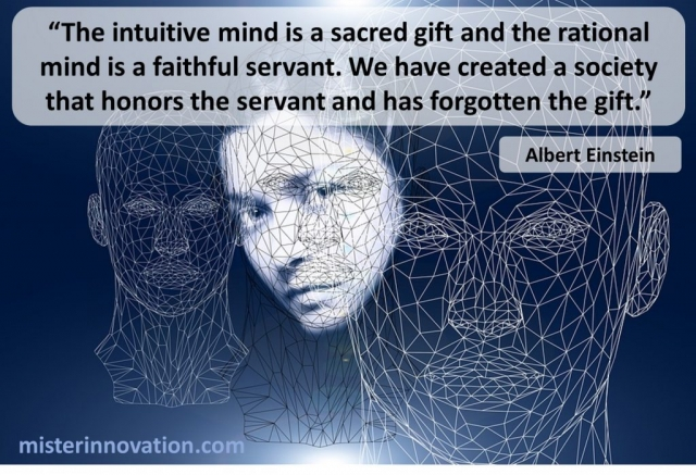 Albert Einstein Quote on the Intuitive and Rational Minds