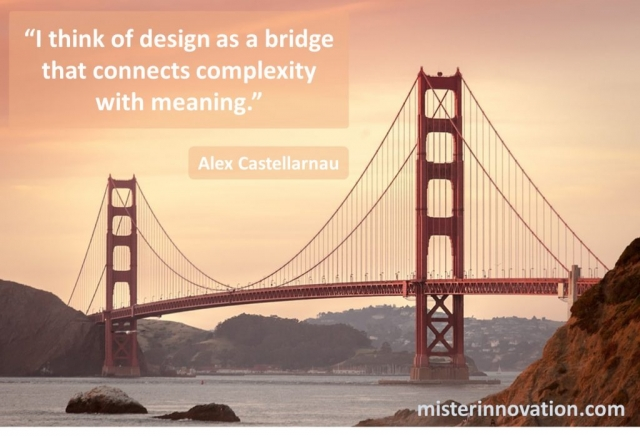 Alex Castellarnau Quote on How Design Bridges Complexity with Meaning