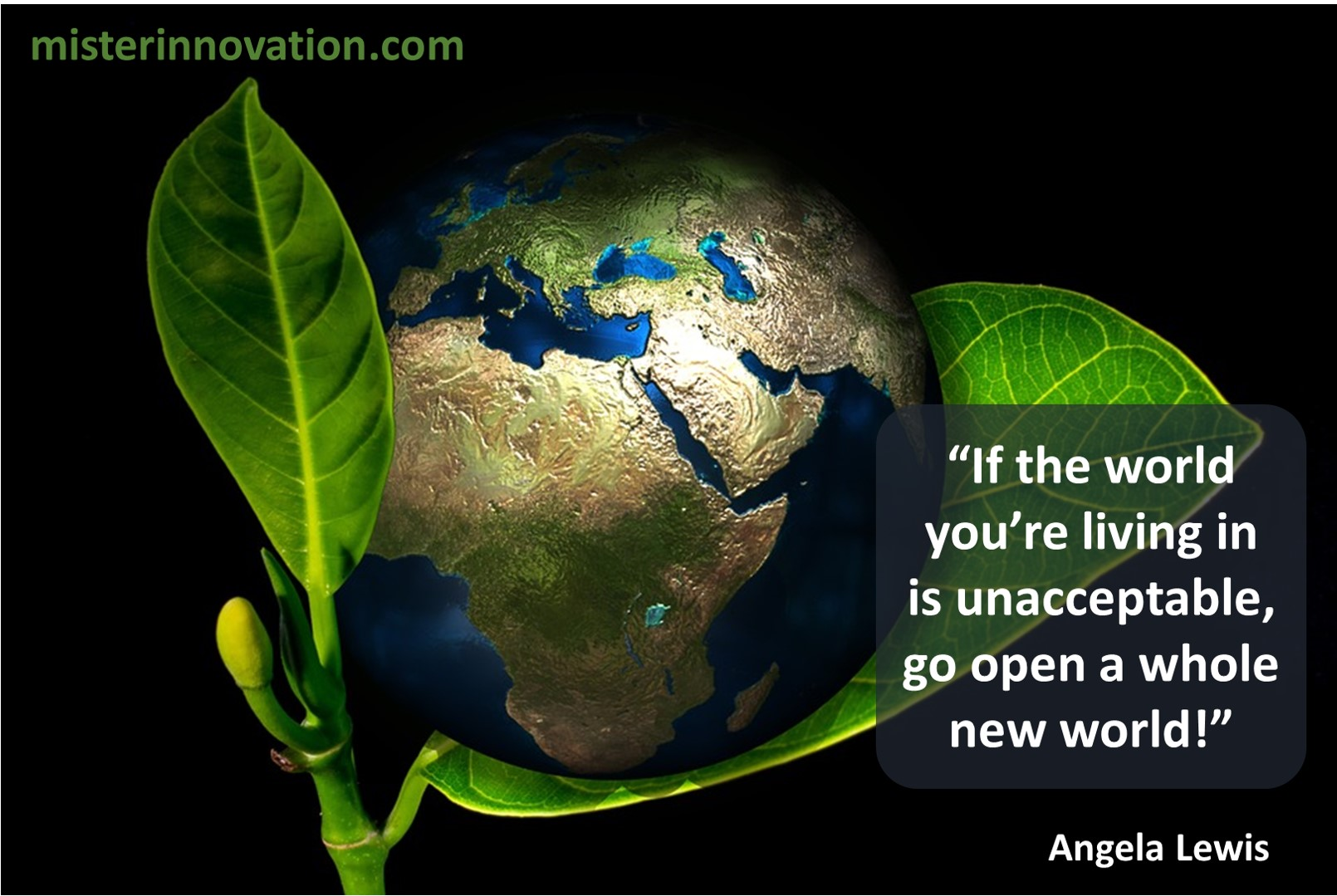 Angela Lewis Quote on Opening a New World