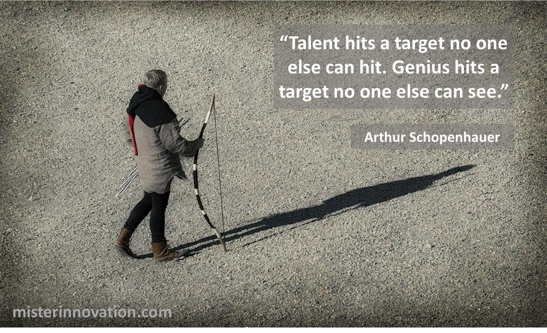 Arthur Schopenhauer Talent