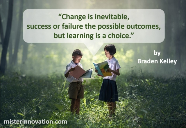 Change and Learning Quote from Braden Kelley