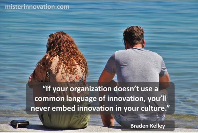 Common Language of Innovation Culture quote from Braden Kelley