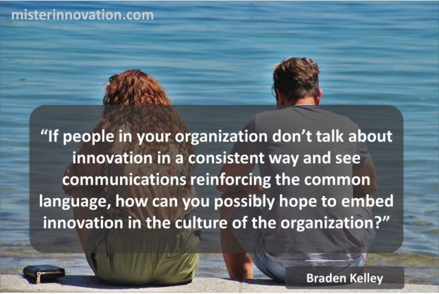 Braden Kelley Quote on Role of Common Language in Innovation Culture