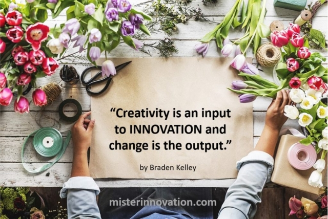 Creativity Change and Innovation Quote from Braden Kelley