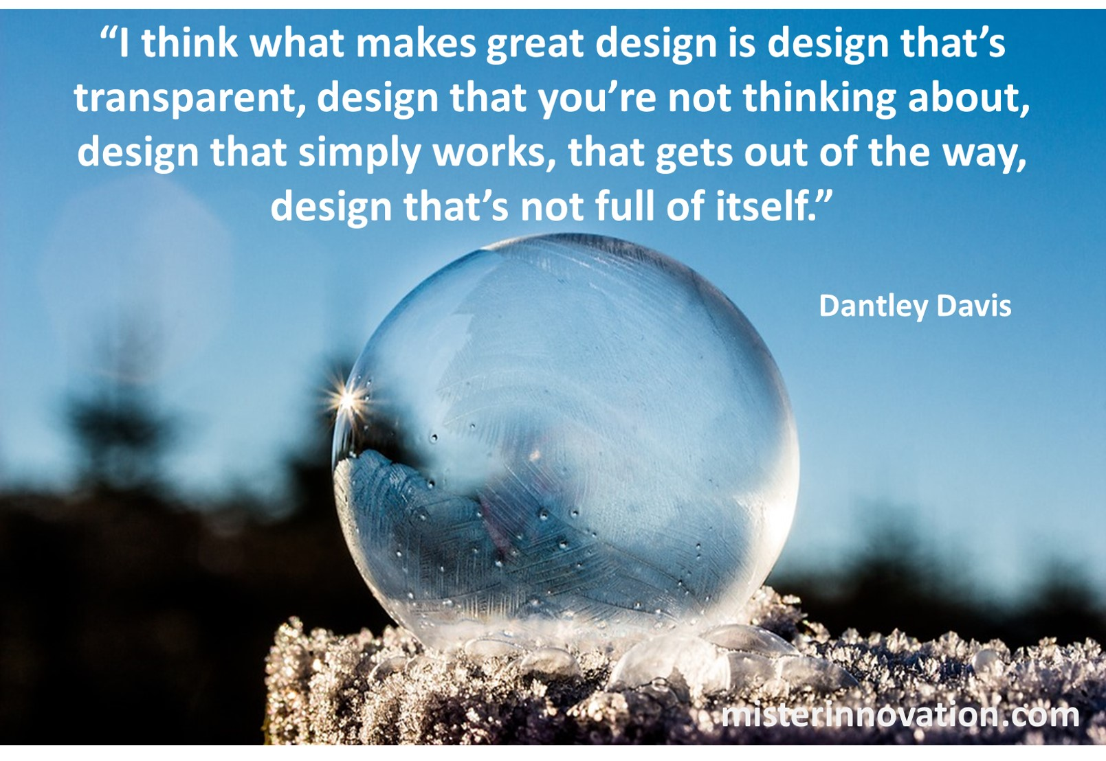 Dantley Davis Quote on Transparent Design