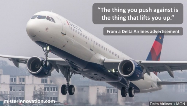 Delta Airlines Slogan - The Thing You Push Against