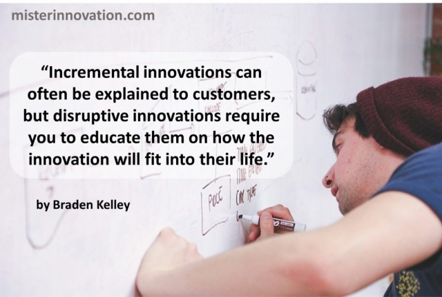 Braden Kelley on Incremental Disruptive Innovation education
