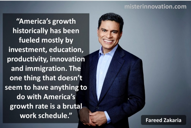 Fareed Zakaria Quote on Innovation and Immigration