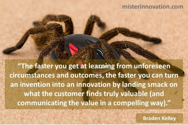 Braden Kelley Quote on Faster Learning from Unforseen Circumstances