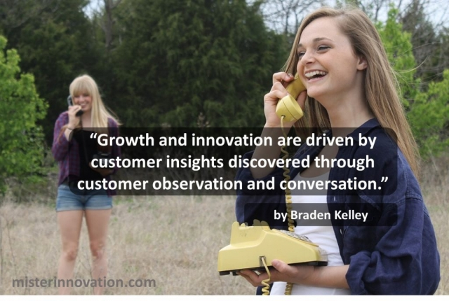 Growth Insight Observation and Conversation Quote from Braden Kelley