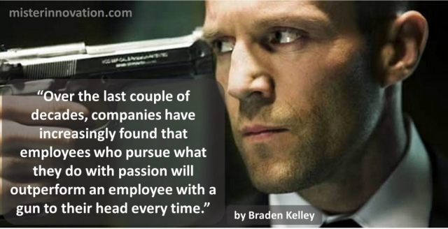 Passion versus a Gun to the Head Quote from Braden Kelley