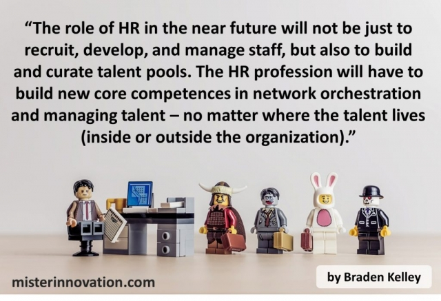 Quote from Braden Kelley on HR and Talent Pools