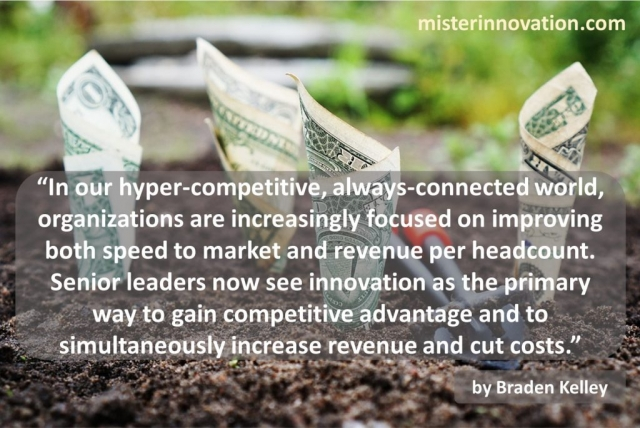 Braden Kelley quote on Increasing Revenue and Cutting Costs