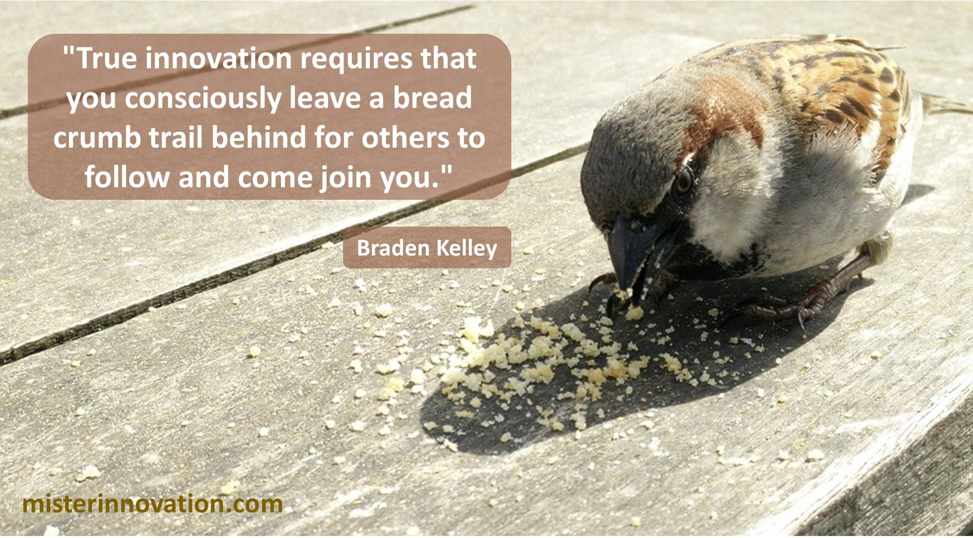 Innovation Bread Crumb Trail