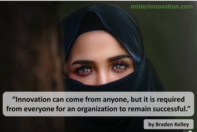 Innovation Can Come From Anyone Quote from Braden Kelley