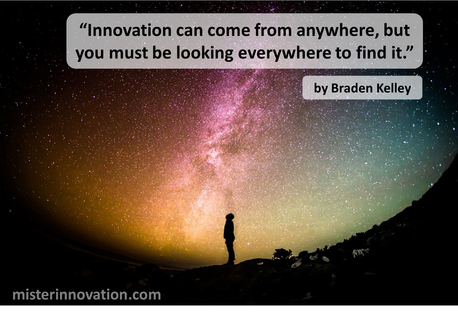 Braden Kelley Quote on Innovation Coming From Anywhere