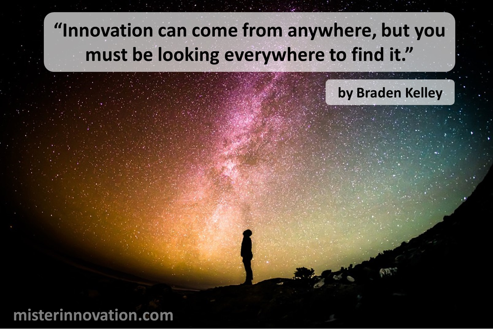 Innovation Can Come From Anywhere Quote from Braden Kelley