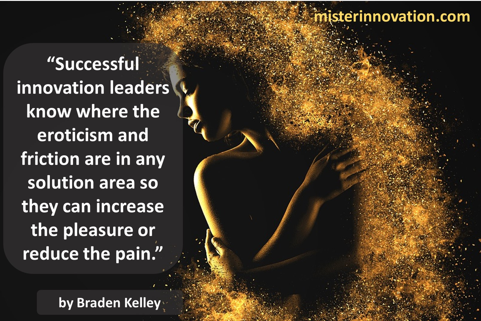 Braden Kelley Quote on Innovation, Eroticism, Friction, Pleasure and Pain