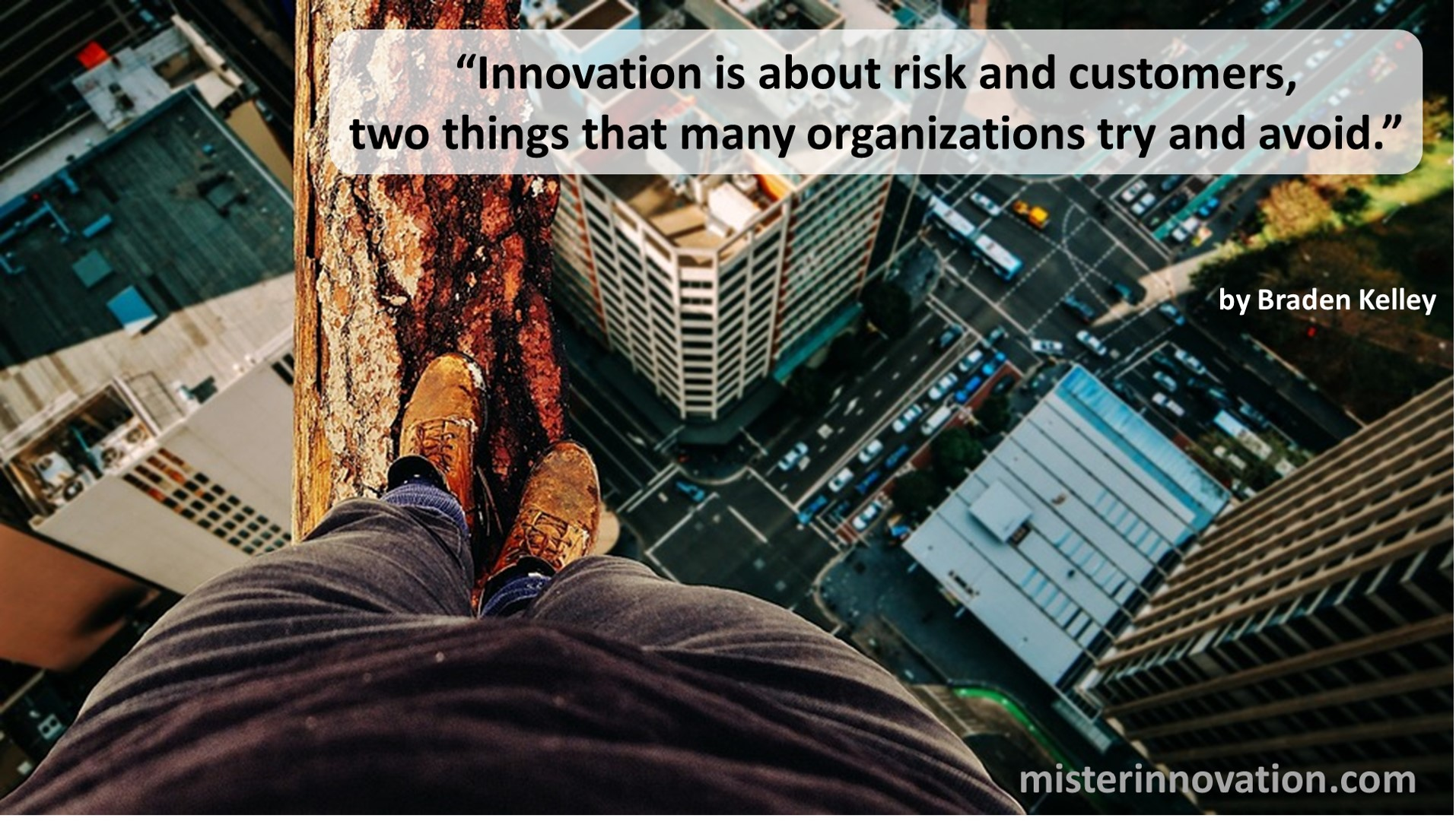 Innovation Risk and Customers Quote from Braden Kelley