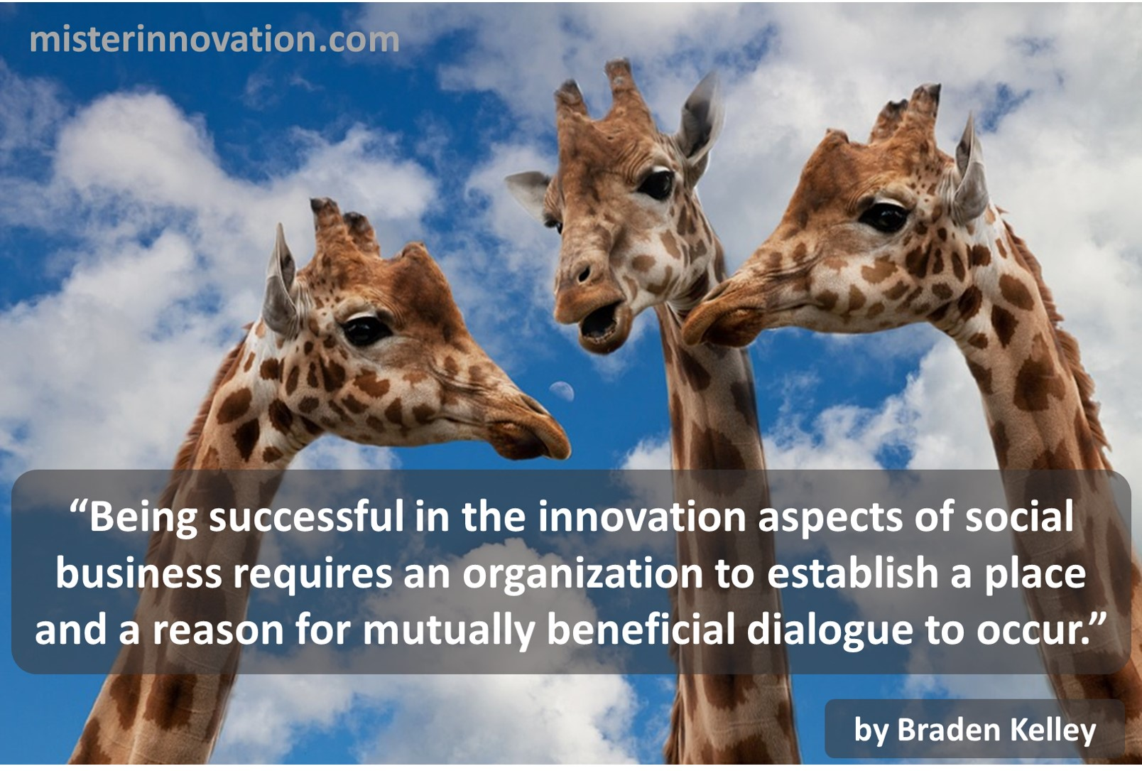 Braden Kelley Quote on Innovation, Social Business and Dialogue