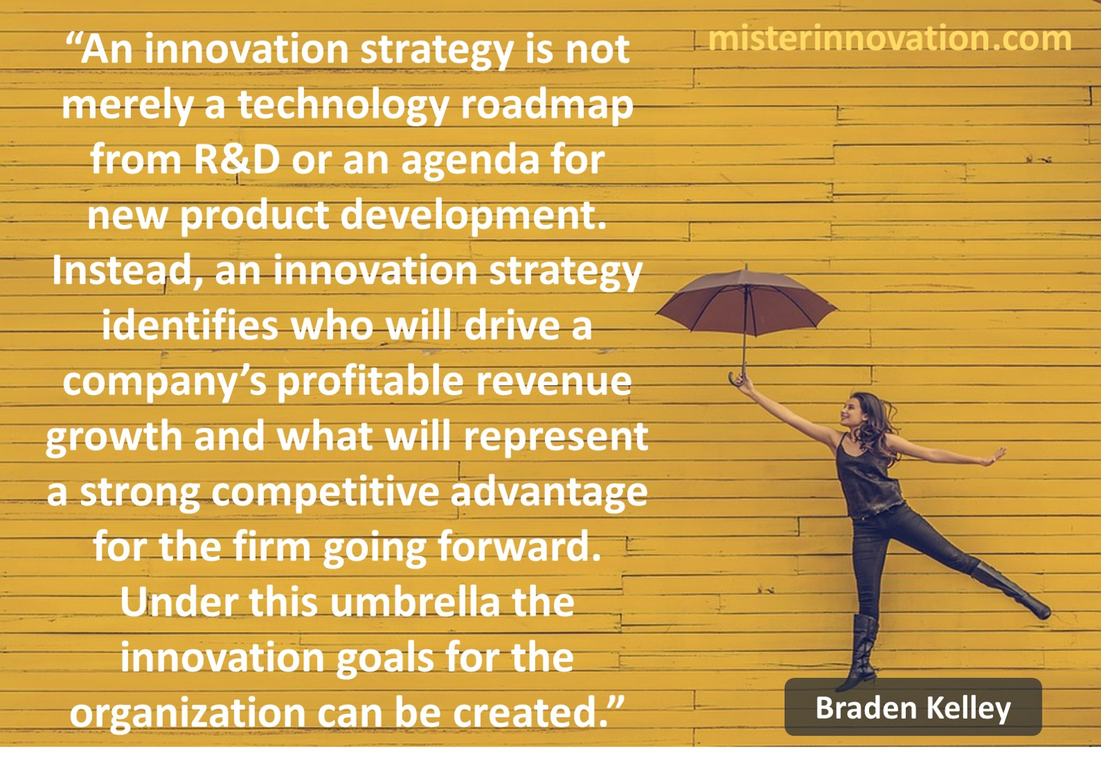 Innovation Strategy and Goals Quote from Braden Kelley