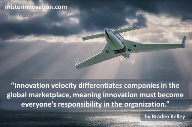 Braden Kelley quote on Innovation Velocity