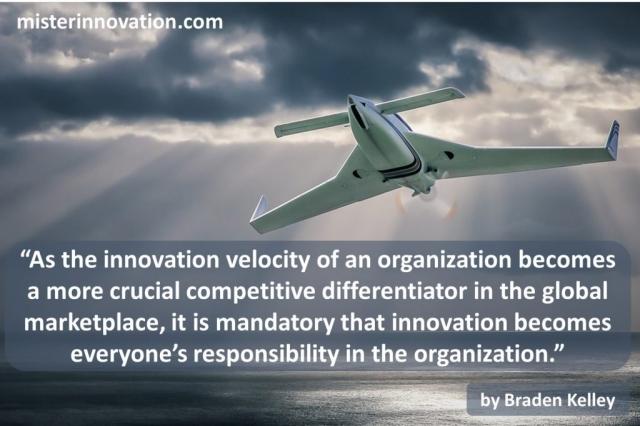 Innovation Velocity Quote from Braden Kelley