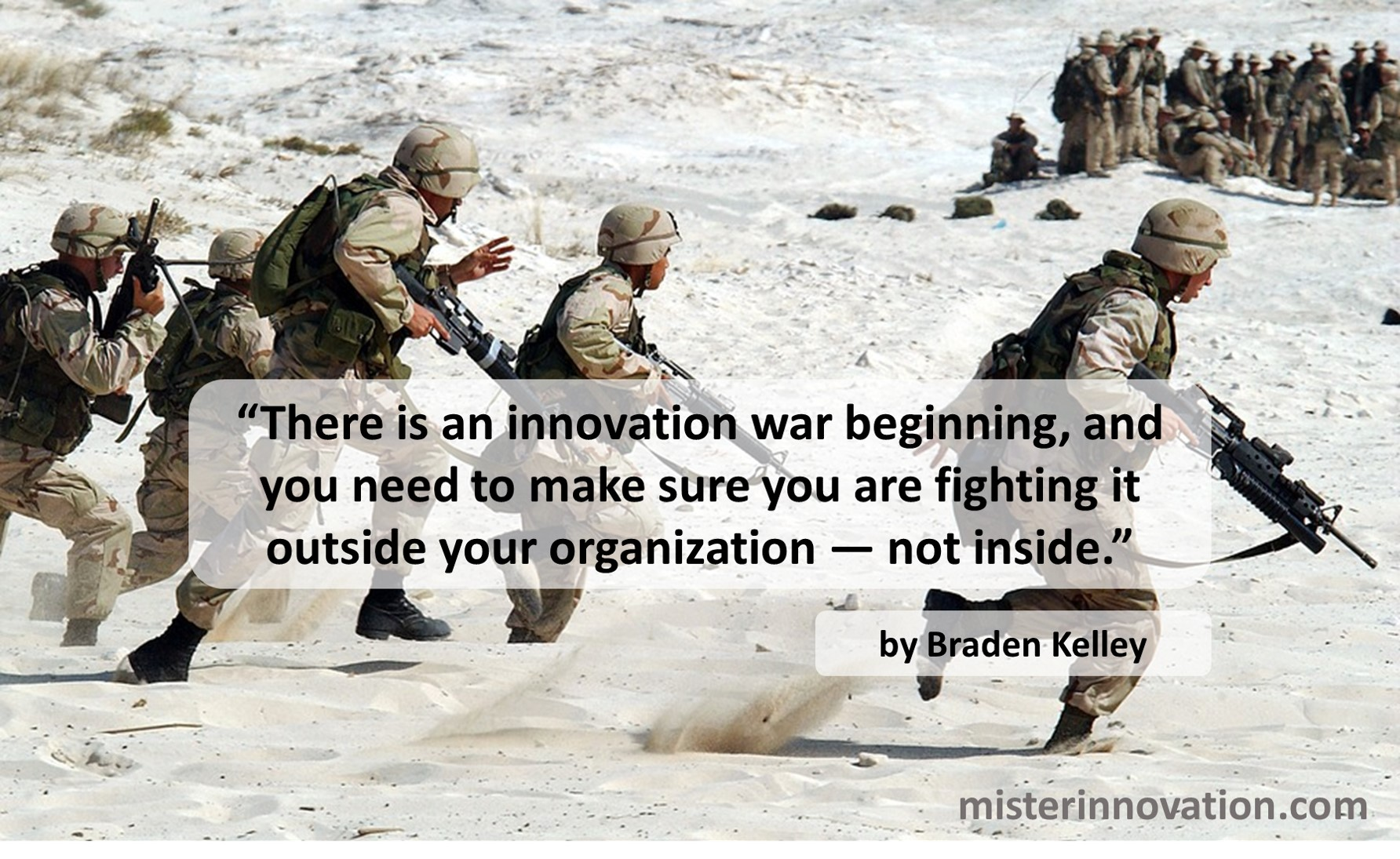 Innovation War Quote from Braden Kelley