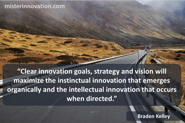Instinctual and Intellectual Innovation quote from Braden Kelley