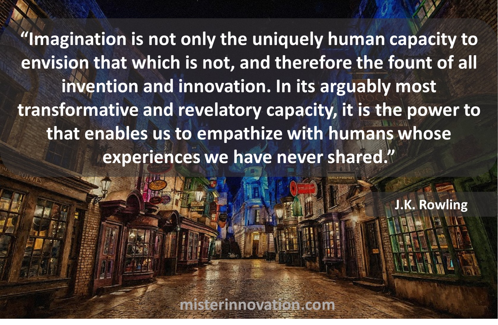 JK Rowling Quote on Imagination and Innovation