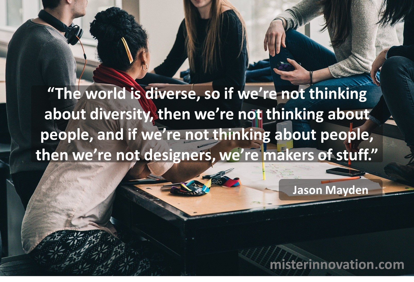 Jayson Mayden quote the importance of diversity in design