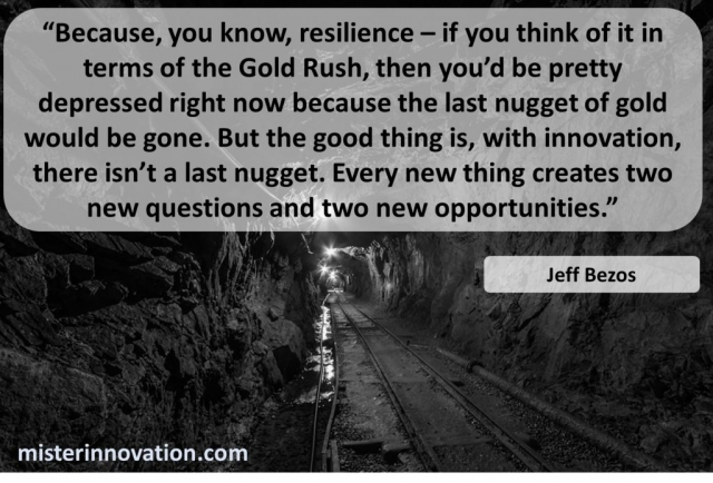 Jeff Bezos Quote on Innovation Questions and Opportunities