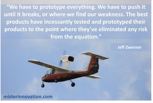 Jeff Zwerner Quote on Risk and Prototyping