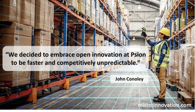 Quote from John Conoley of Psion Teklogix on Open Innovation