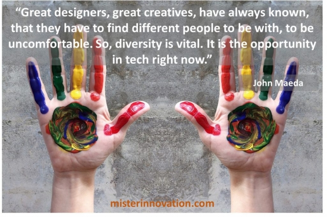 John Maeda quote on the importance of diversity in design