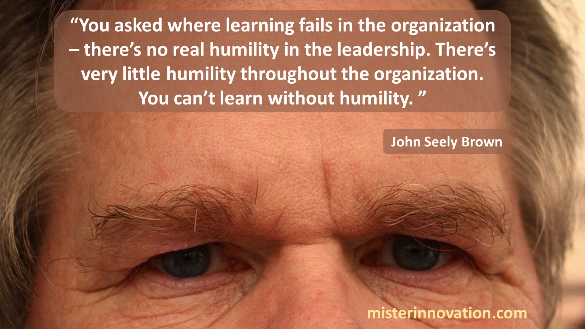 John Seely Brown Humility